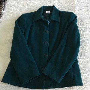 HARVÉ BERNARD deep green Women's jacket size 12